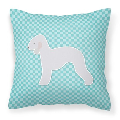 Bedlington Terrier Indoor/Outdoor Throw Pillow Size: 18 H x 18 W x 3 D, Color: Blue
