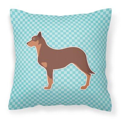 Australian Kelpie Indoor/Outdoor Throw Pillow Size: 14 H x 14 W x 3 D, Color: Blue