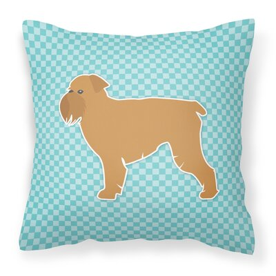 Brussels Griffon Indoor/Outdoor Throw Pillow Size: 18 H x 18 W x 3 D, Color: Blue
