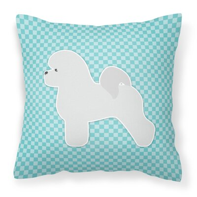 Bichon Frise Indoor/Outdoor Throw Pillow Size: 18 H x 18 W x 3 D, Color: Green