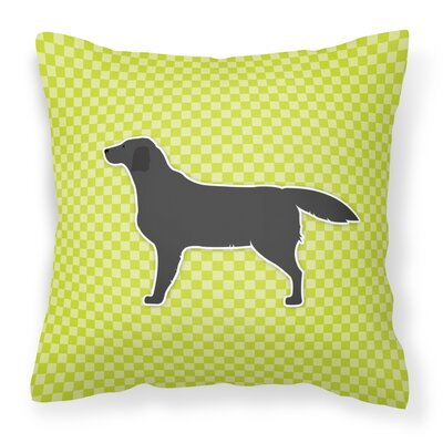 Labrador Indoor/Outdoor Throw Pillow Size: 14 H x 14 W x 3 D, Color: Green