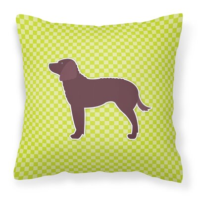 American Water Spaniel Indoor/Outdoor Throw Pillow Size: 14 H x 14 W x 3 D, Color: Green