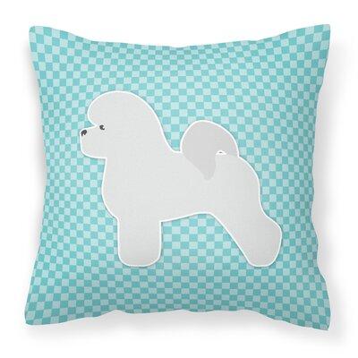 Bichon Frise Indoor/Outdoor Throw Pillow Color: Blue, Size: 18 H x 18 W x 3 D