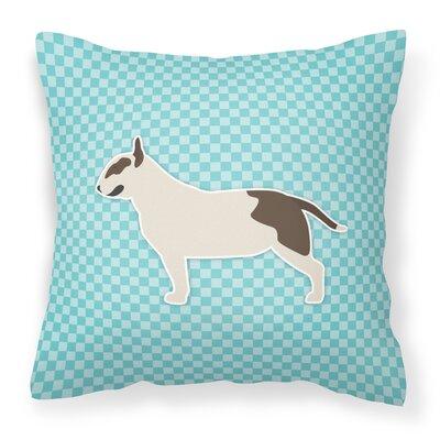 Bull Terrier Indoor/Outdoor Throw Pillow Size: 14 H x 14 W x 3 D, Color: Blue