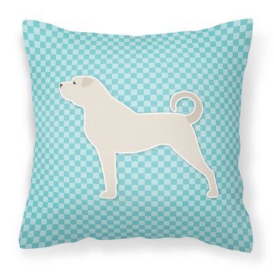Anatolian Shepherd Indoor/Outdoor Throw Pillow Size: 14 H x 14 W x 3 D, Color: Blue