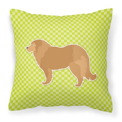 Caucasian Shepherd Dog Indoor/Outdoor Throw Pillow Size: 14 H x 14 W x 3 D, Color: Green