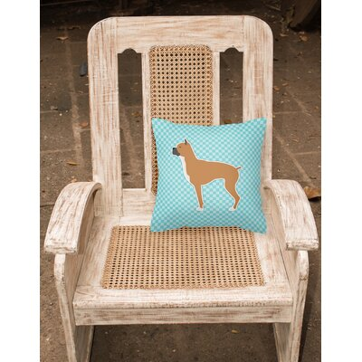 Boxer Indoor/Outdoor Throw Pillow Size: 14 H x 14 W x 3 D, Color: Blue