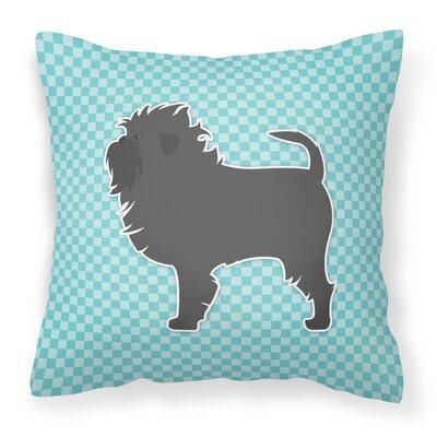 Affenpinscher Indoor/Outdoor Throw Pillow Size: 14 H x 14 W x 3 D, Color: Blue