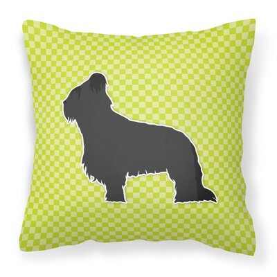 Briard Indoor/Outdoor Throw Pillow Size: 14 H x 14 W x 3 D, Color: Green