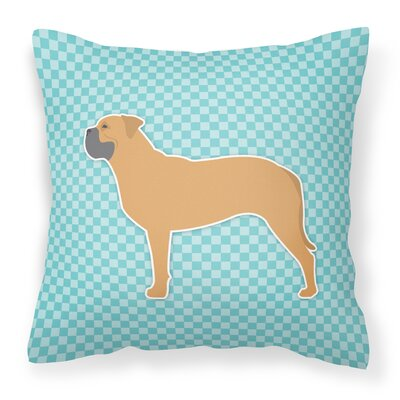Bullmastiff Indoor/Outdoor Throw Pillow Size: 14 H x 14 W x 3 D, Color: Blue