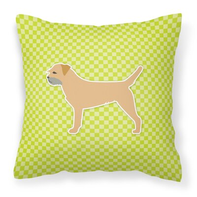 Border Terrier Indoor/Outdoor Throw Pillow Size: 18
