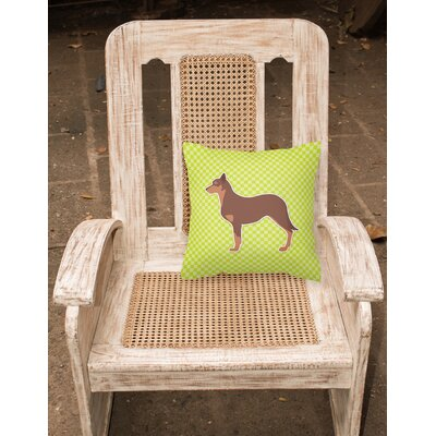 Australian Kelpie Indoor/Outdoor Throw Pillow Size: 14 H x 14 W x 3 D, Color: Green