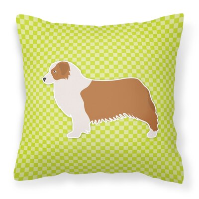 Square Indoor/Outdoor Throw Pillow Size: 14 H x 14 W x 3 D, Color: Green