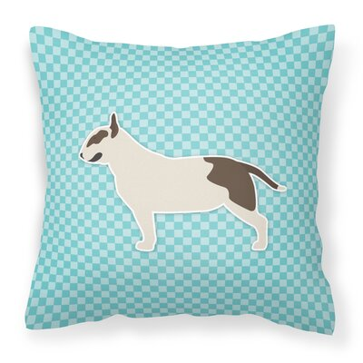 Bull Terrier Indoor/Outdoor Throw Pillow Color: Blue, Size: 18 H x 18 W x 3 D