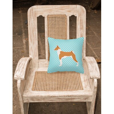 Basenji Indoor/Outdoor Throw Pillow Size: 18 H x 18 W x 3 D, Color: Pink