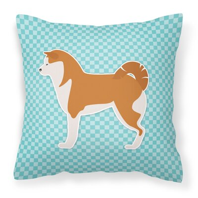 Akita Indoor/Outdoor Throw Pillow Size: 14 H x 14 W x 3 D, Color: Blue
