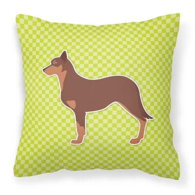 Australian Kelpie Indoor/Outdoor Throw Pillow Size: 14 H x 14 W x 3 D, Color: Green