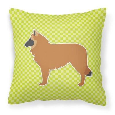 Belgian Shepherd Indoor/Outdoor Throw Pillow Size: 14 H x 14 W x 3 D, Color: Pink