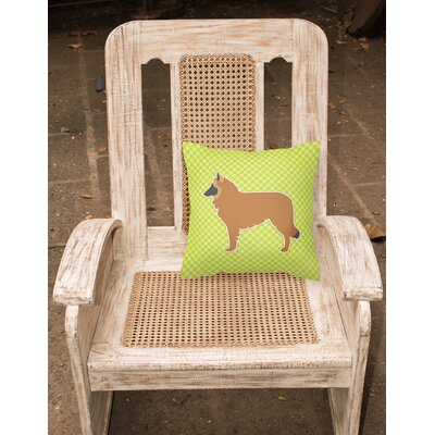 Belgian Shepherd Indoor/Outdoor Throw Pillow Size: 14 H x 14 W x 3 D, Color: Pink