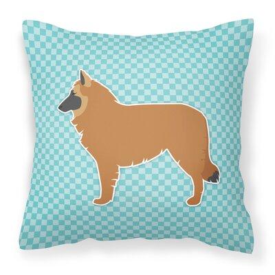 Belgian Shepherd Indoor/Outdoor Throw Pillow Color: Blue, Size: 18 H x 18 W x 3 D