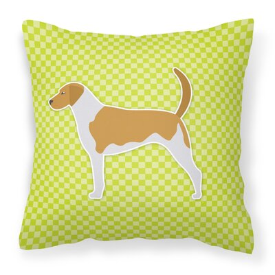 American Foxhound Indoor/Outdoor Throw Pillow Size: 14 H x 14 W x 3 D, Color: Green