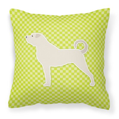 Anatolian Shepherd Indoor/Outdoor Throw Pillow Size: 14 H x 14 W x 3 D, Color: Green