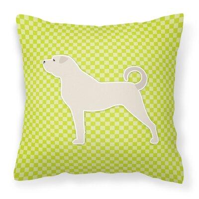 Anatolian Shepherd Indoor/Outdoor Throw Pillow Size: 14 H x 14 W x 3 D, Color: Green