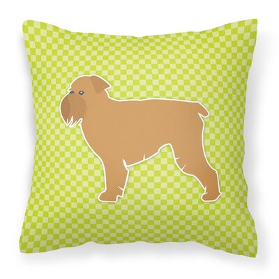 Brussels Griffon Indoor/Outdoor Throw Pillow Size: 18 H x 18 W x 3 D, Color: Green