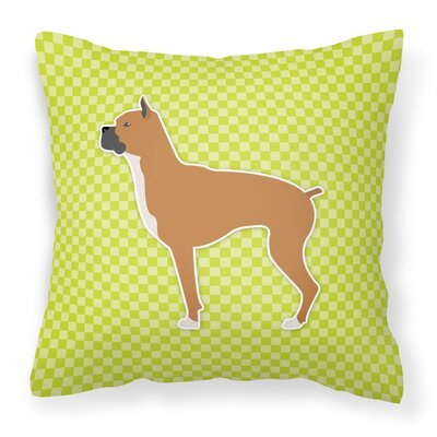Boxer Indoor/Outdoor Throw Pillow Size: 18 H x 18 W x 3 D, Color: Green