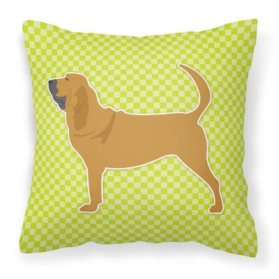Bloodhound Indoor/Outdoor Throw Pillow Size: 18 H x 18 W x 3 D, Color: Green