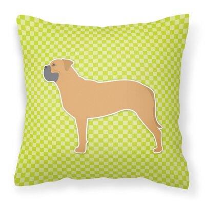 Bullmastiff Indoor/Outdoor Throw Pillow Size: 14 H x 14 W x 3 D, Color: Green