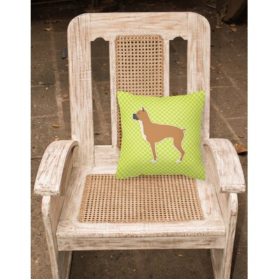 Boxer Indoor/Outdoor Throw Pillow Size: 14 H x 14 W x 3 D, Color: Green