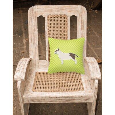 Bull Terrier Indoor/Outdoor Throw Pillow Size: 14 H x 14 W x 3 D, Color: Green