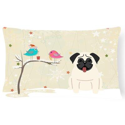 Christmas Handmade Fabric Indoor/Outdoor Lumbar Pillow Color: Cream