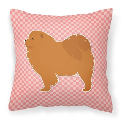 Chow Chow Indoor/Outdoor Throw Pillow Size: 14 H x 14 W x 3 D, Color: Pink