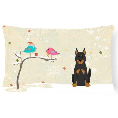 Christmas Contemporary Fabric Ivory Indoor/Outdoor Lumbar Pillow