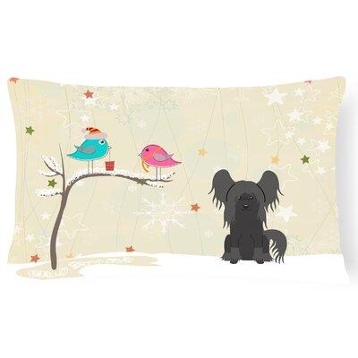 Christmas Indoor/Outdoor Lumbar Pillow Color: Black