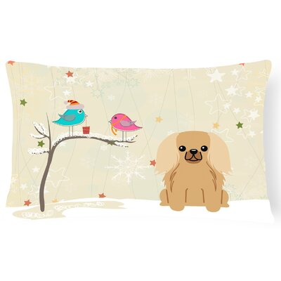 Christmas Fabric Indoor/Outdoor Lumbar Pillow Color: Fawn / Sable