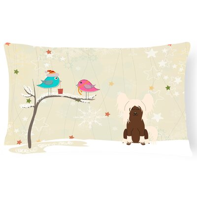 Christmas Indoor/Outdoor Lumbar Pillow Color: Cream