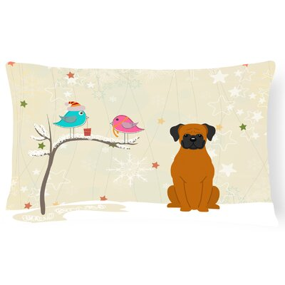 Christmas Contemporary Square Indoor/Outdoor Lumbar Pillow Color: Fawn