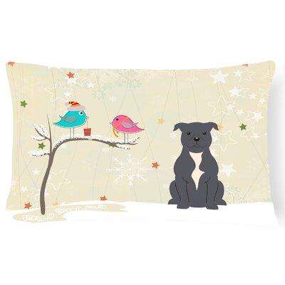 Christmas Indoor/Outdoor Lumbar Pillow Color: Blue