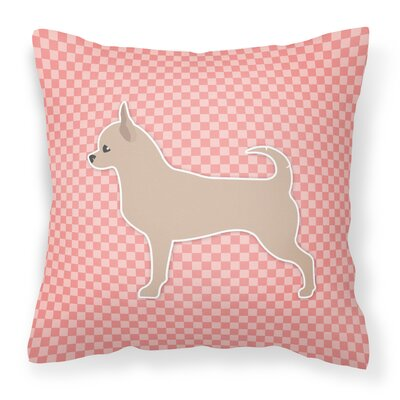 Chihuahua Indoor/Outdoor Throw Pillow Color: Pink, Size: 14 H x 14 W x 3 D