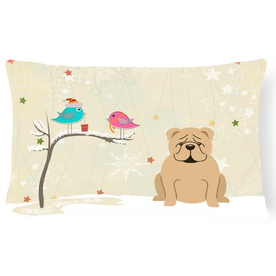 Christmas Fabric Square Indoor/Outdoor Lumbar Pillow Color: Fawn