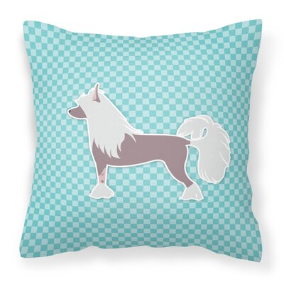 Chinese Crested Indoor/Outdoor Throw Pillow Size: 18 H x 18 W x 3 D, Color: Green