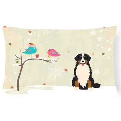 Christmas Contemporary Solid Indoor/Outdoor Lumbar Pillow