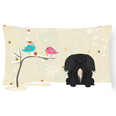 Christmas Fabric Indoor/Outdoor Lumbar Pillow Color: Black