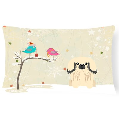 Christmas Fabric Indoor/Outdoor Lumbar Pillow Color: Cream