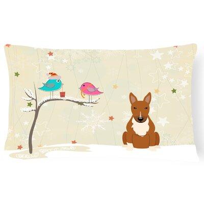 Christmas Indoor/Outdoor Lumbar Pillow Color: Red