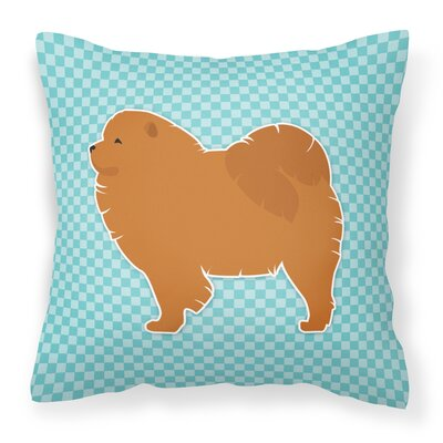 Chow Chow Indoor/Outdoor Throw Pillow Size: 18 H x 18 W x 3 D, Color: Blue
