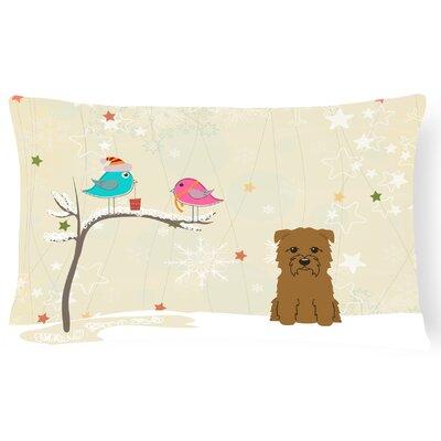Christmas Indoor/Outdoor Lumbar Pillow Color: Tan